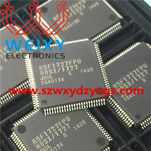 R5F1727FPU  commonly used MCU chip for Toyota airbag control unit