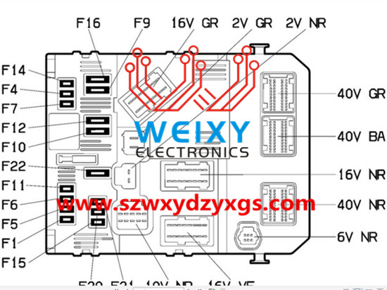 peugeot 206, 207, 307, citroen , picasso, c2, c3 fuse box bsm, bsi repair kit Fuse Box Diagram