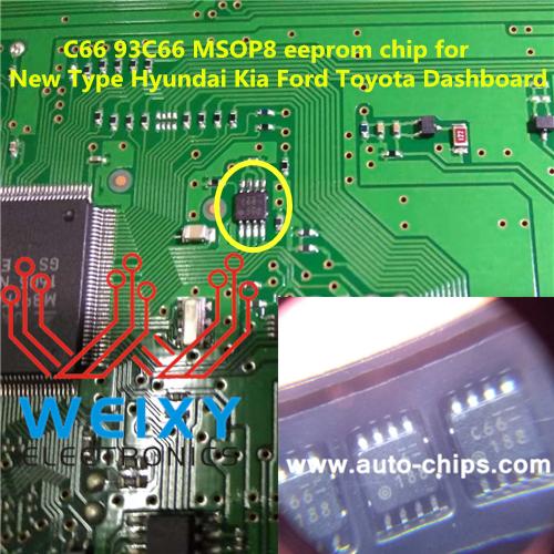 Auto Bmw: C66 93C66 MSOP8 Eeprom Chip For New Type Hyundai Kia Ford