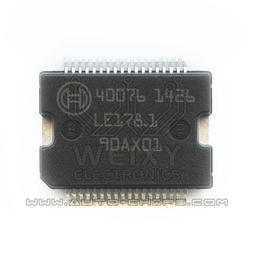 40076  commonly used vulnerable power driver chip for Bosch ECU