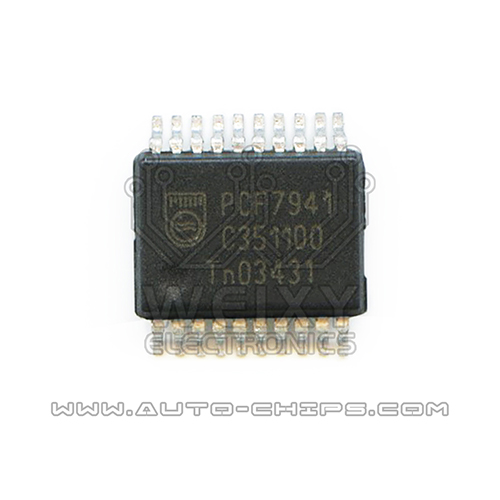 PCF7941  commonly used vulnerable chip For Car key circuit board