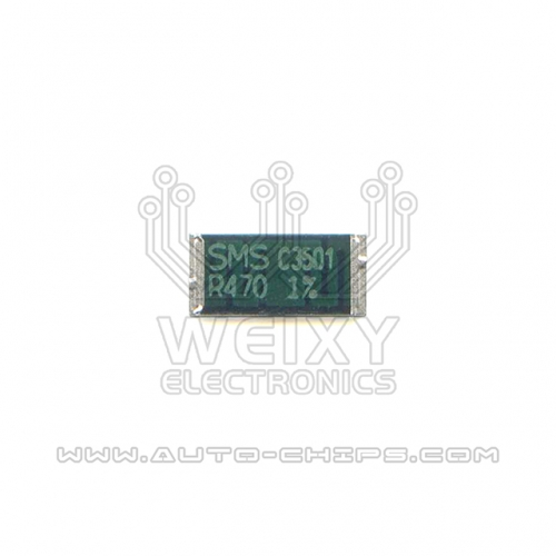 SMS R470 high-precision alloy power resistors for automotives