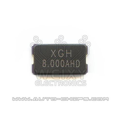 8.000 MHz crystal oscillator for automotives