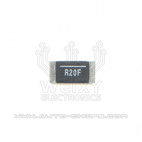 R20F resistor use for automotives