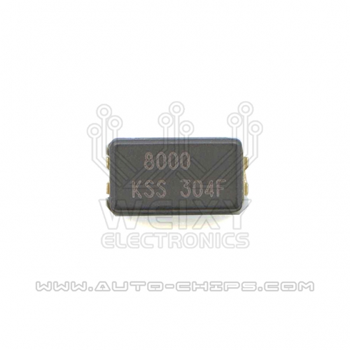 8000 MHz crystal oscillator for automotives