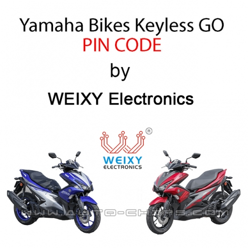PIN code for Yamaha keyless-go bikes