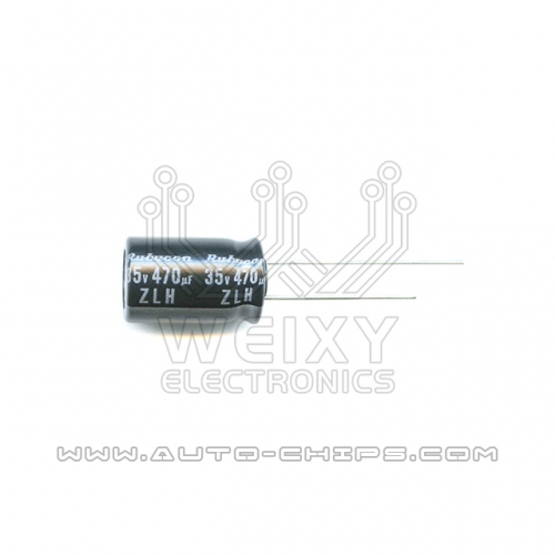 35v 470uf capacitor use for automotives