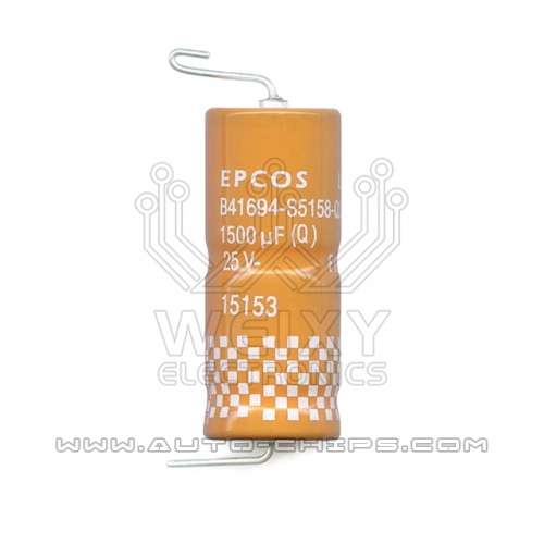 EPCOS B41694-S5158-Q2 25V 1500uf capacitor use for automotives