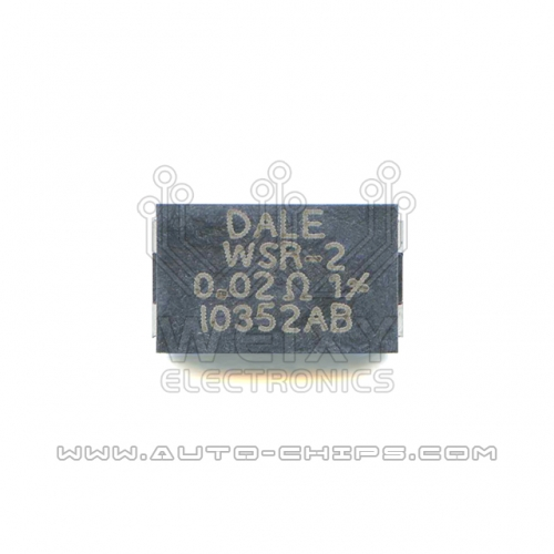 DALE WSR-2 0.02R Resistor use for automotives ECU