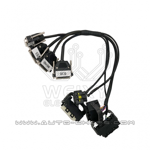 New type BMW N13,N20,N55,B38,MSV90 DME test cables work with Autohex II