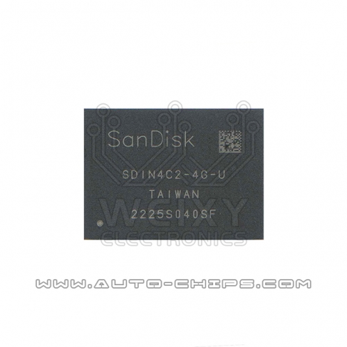 SDIN4C2-4G-U BGA chip used for automotives radio