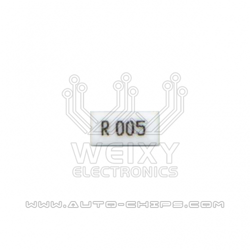 R005 resistor use for automotives
