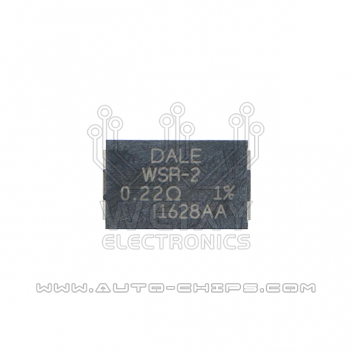 DALE WSR-2 0.22R resistor used for automotives ECU