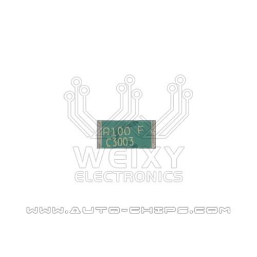 R100 F resistor chip use for automotives