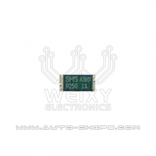 SMS R250 resistor use for automotives ECU