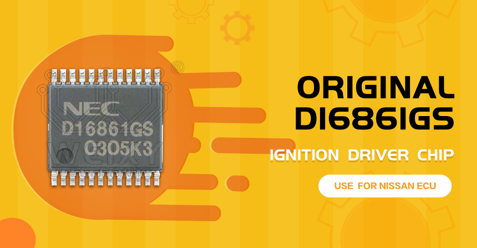 Original D16861GS ignition driver chip use for Nissan ECU by WEIXY Electronics